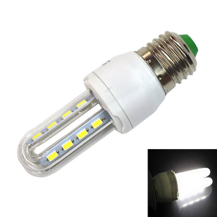 E27 5W 6000K 330lm 16-5730 SMD 2U CFL Tube Cold White LightE27<br>Color BINCool WhiteMaterialPlastic +  glassForm  ColorWhite + Transparent + Multi-ColoredQuantity1 DX.PCM.Model.AttributeModel.UnitPower5WRated VoltageOthers,AC 180-240 DX.PCM.Model.AttributeModel.UnitConnector TypeE27Emitter TypeOthers,5730 SMD LEDTotal Emitters16Theoretical Lumens330 DX.PCM.Model.AttributeModel.UnitActual Lumens320~330 DX.PCM.Model.AttributeModel.UnitColor Temperature6000KDimmableNoBeam Angle360 DX.PCM.Model.AttributeModel.UnitPacking List1 * Energy-saving lamp<br>