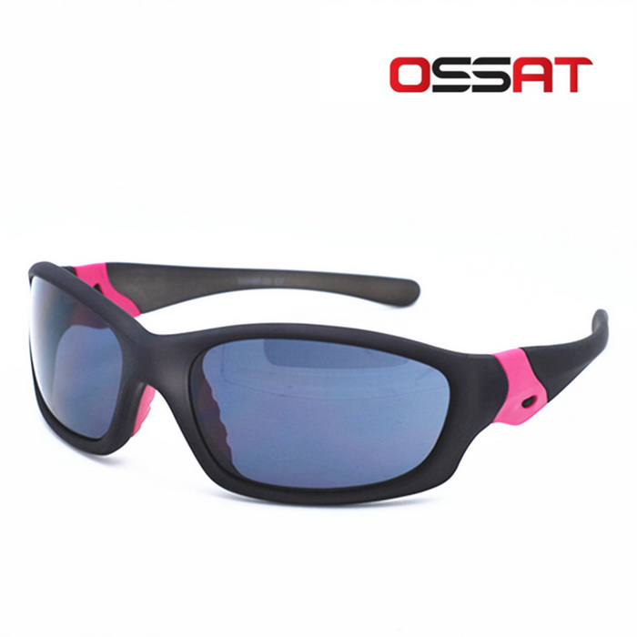OSSAT 100% UV Protection Sports Sunglasses - Black + Grey