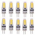 YWXLight G4 2W 6-5730 SMD Warm White LED Silicone Light Bulbs (10PCS)