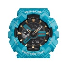 Casio Baby-G BA-110TP-2A Tribal Pattern Series Watch - Blue + Gold