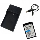 BL-S5 Battery+Micro USB Mobile Battery Charger for Olympus E-PL2 PL3 PL5PL6PL7 EP3 EM10E-PM1 PM2 PM3