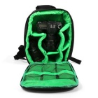 Mochila Outdoor Travel Photography - Preto + Verde (10L)