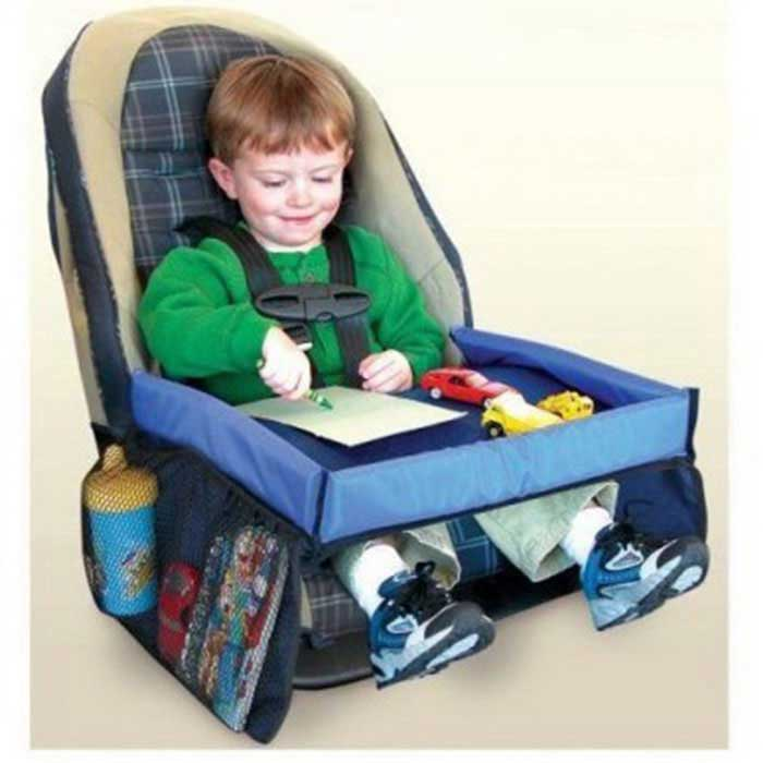Safety Seat Accessory Children Toy Storage Tray / Dining Table - Blue