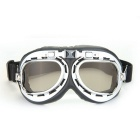 QooK Vintage Style Aviator Motorcycle Goggles Helmet Glasses - Tawny