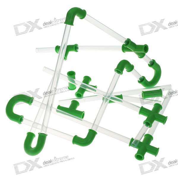 DIY Combinable Straws (30-Piece Pack) automatic straws electric drinking water pump straw group