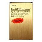 3.8V 2300mAh Li-ion Battery Compatible for LG K10 - Golden + Black