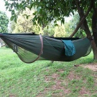 Outdoor Camping Anti-Mosquito Parachute Nylon Hammock - Green