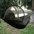 Outdoor Camping Anti-Mosquito Parachute Nylon Hammock - Black