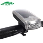Bicycle 4-LED Solar Powered USB 2.0 Rechargeable Front Light Headlight