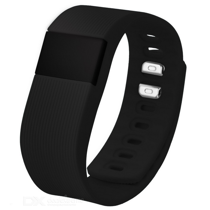 Eastor TW68 Bluetooth Smart Bracelet w/ Blood Pressure Monitor - Black