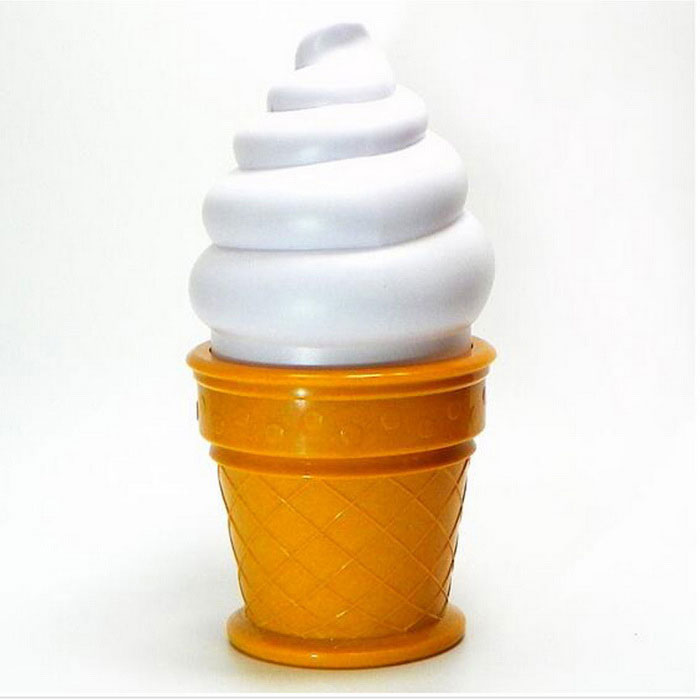 P-TOP On Sale Ice Cream Cone Shape 8W LED Night Light Neutral White (4.5V)
