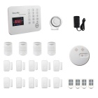 Touch Keypad Color Screen Wireless Smart GSM Alarm System - White