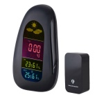 BLCR Digital Cobblestone LED Wireless Weather Station Alarm Clock