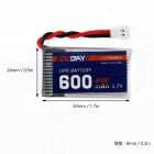 OCDAY 3.7V 600MAH 25C 1S1P 2.22WH Battery & Charger for Syma X5C X5SW