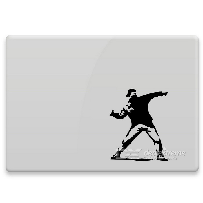 Hat-Prince Patterned Removable Skin Sticker for MACBOOK - Black