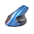 5D 2.4GHz Wired USB Vertical 1600dpi Optical Mouse - Black + Blue