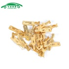 Car 6mm Speaker Spade Male Terminal Cable Connectors - Gold (100PCS)