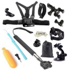 Tigerone 27-i-1 Sports Kamera Tilbehør Kit for GoPro Hero 3/3 + / 4