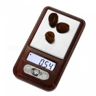 MH335 100g / 0.01g Mini Pocket Scale Jewelry Scale - Wood Color