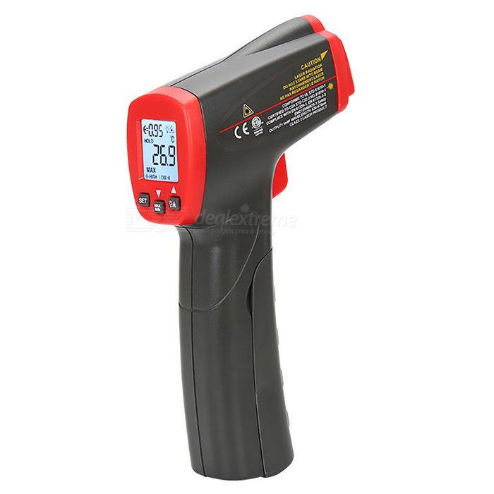 UNI-T UT300S Non Contact Infrared Thermometer - Red + Deep Grey