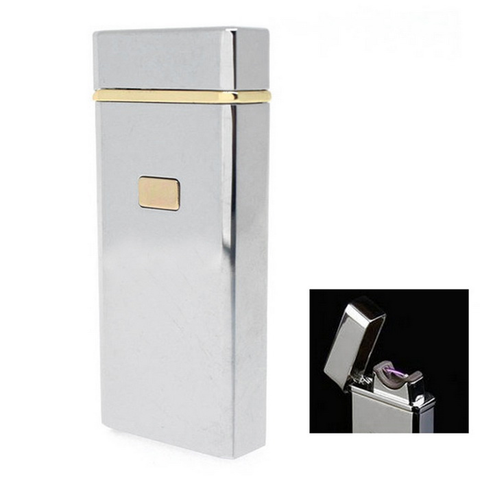 MaiKou Metal USB Windproof Lighter - Silver Ice