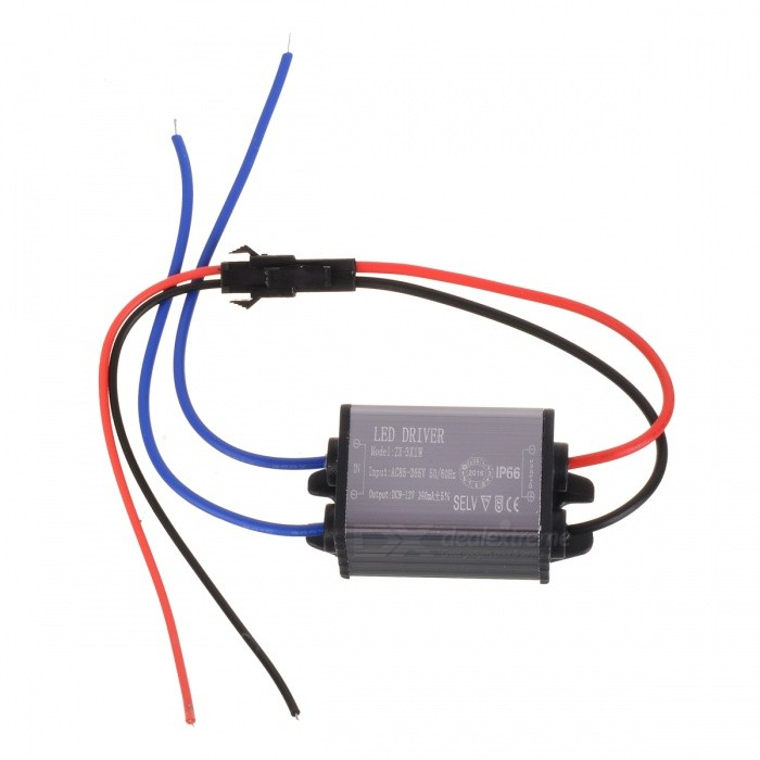 Waterproof 1W 300mA Constant Current Source LED Driver (85~265V)