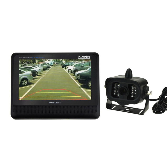 "IN-Color Wireless Car Rear View Camera System w/ 7"" TFT-LCD Monitor"