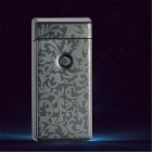 MAIKOU Flowers Pattern Double Arc USB Charging Lighter - Black