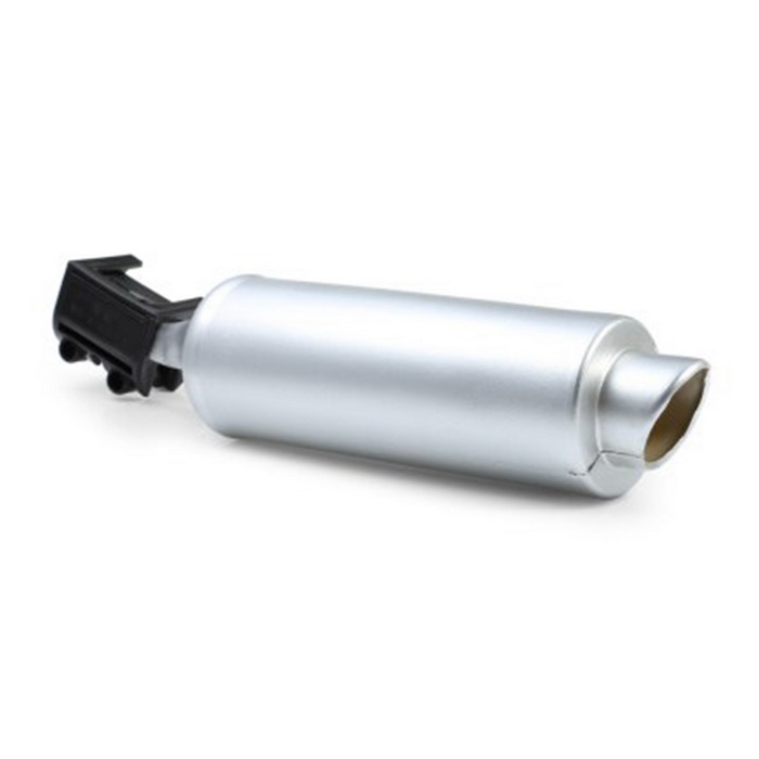 Motor Sound Simulation Bicycle Exhaust Pipe - Silver