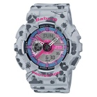 Casio G-Shock BA-110FL-8A Ladies Baby-G Watch -  Flower Leopard