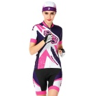NUCKILY mujeres profesionales ciclismo camisas jersey + shorts - blanco (xl)