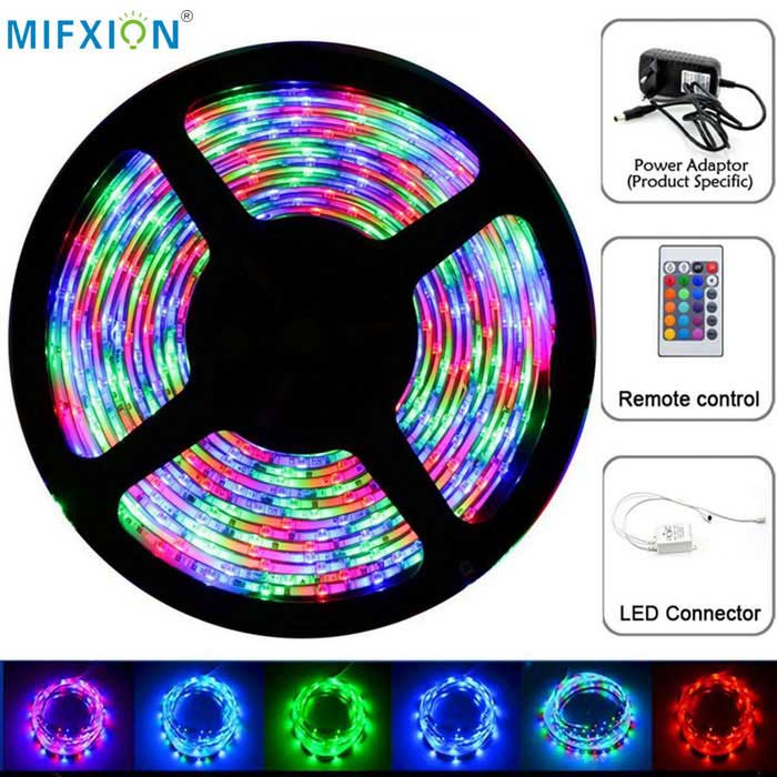 MIFXION 5m RGB 300-3528 SMD LED flexible Lichtleiste