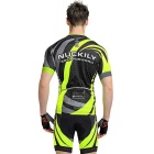 Uomo NUCKILY Professional Cycling Shirts Jersey + Shorts - verde (XL)