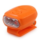 High Brightness Mini 3-LED Clip-on Hat Headlamp Cool White 36lm