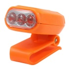 Mini 3-LED Clip-on Hat Headlamp Cool White - Orange (6V)