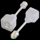 QooK 5W E27 IR Infrared Motion Sensor 39 LED Cold White Light Bulb