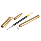 0.5mm Writing Thickness Black Refill Gel Pen w/ Clip - Brass