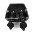 CS-286A1 Tent Style Car Cigarette Lighter Female Sockets - Black