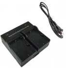 LPE6 Digital Camera Battery Dual Charger for Canon 5D2 5D3 6D 7D 7D2