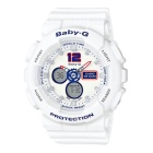 Casio G-Shock BA-120TR-7B White Tricolor Series Ladies Baby-G Watch
