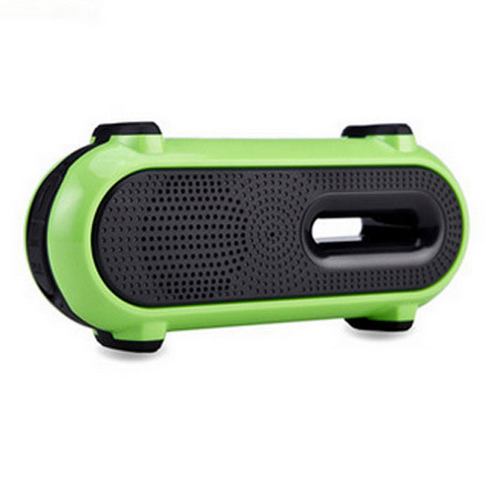Wireless Bluetooth V3.0 Waterproof 3W Speaker - Black + Green