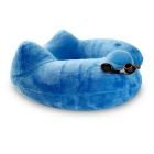 Travel Pillow Soft Inflatable Velvet Neck Pillow - Blue