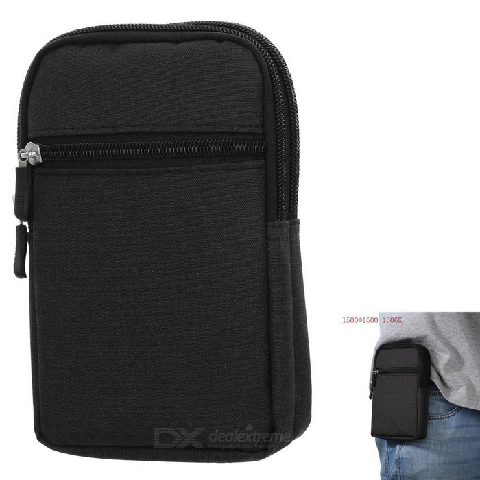 "Casual 6"" Denim Mountaineering Bag - Black"