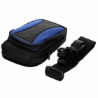 "Casual 5"" Nylon Mountaineering Bag w/ Strap - Black + Sapphire Blue"