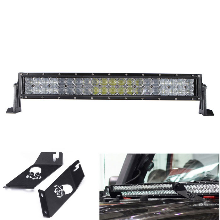 200W LED curvo Bar Ponto Flood Combo lâmpadas para Offroad Car