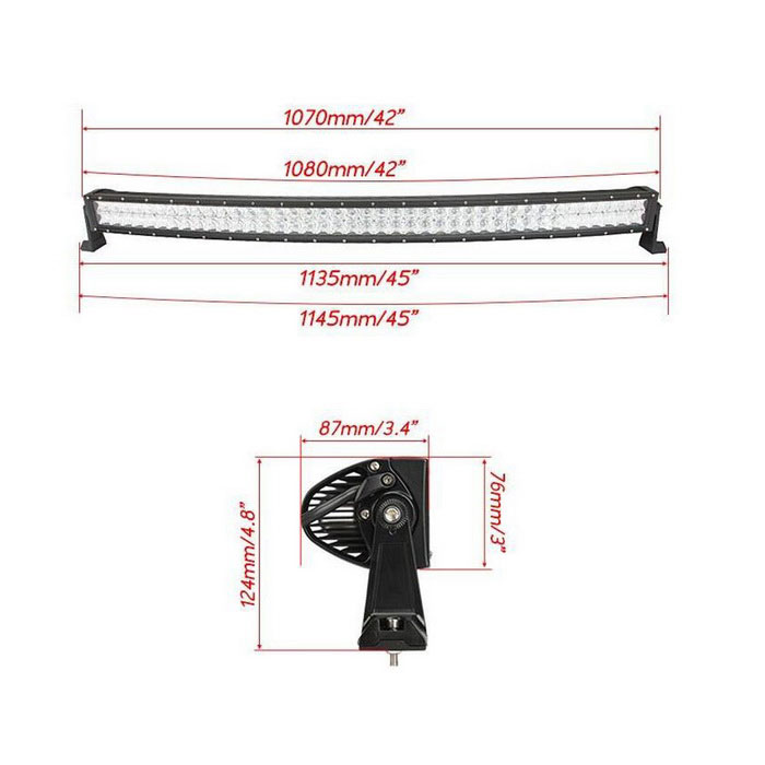 400w curved led bar spot flood combo beam lamp for offroad