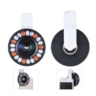 Smartphone Clip LED-Ring Auxiliary Fill Light w / Weitwinkel-Makro-Objektiv
