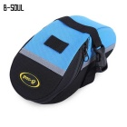 B-SOUL Cycling Mountain Bike Tail Saddle Bag - Blue + Black (1L)