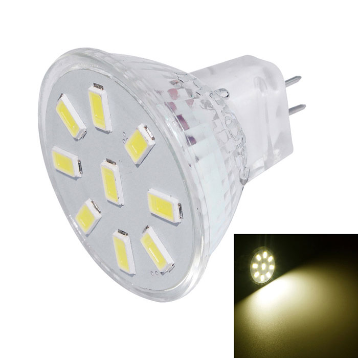 Youoklight MR11 2W 9-SMD 5733 branco quente projetor de LED (DC10-30V)