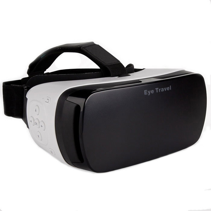 Bluetooth Control Virtual Reality Glasses Video 3D Headset For Android & iOS 360�� Panoramic Videos